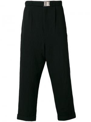 Укороченные брюки свободного кроя Maison Mihara Yasuhiro. Цвет: чёрный