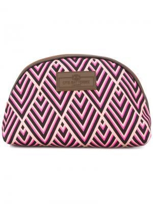 Маленькая косметичка с принтом Otis Batterbee. Цвет: розовый и фиолетовый