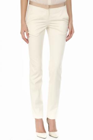Прямые брюки с застежкой на молнию Costume National. Цвет: 16, кремовый