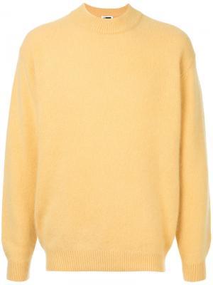 Свитер с длинными рукавами H Beauty&Youth. Цвет: жёлтый и оранжевый