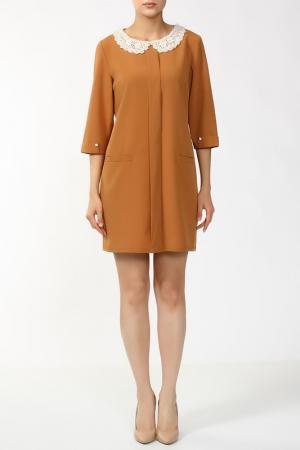 Платье Анора. Цвет: горчичный