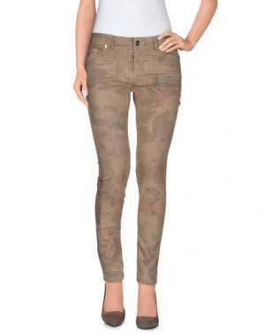 Повседневные брюки H²O LUXURY. Цвет: бежевый