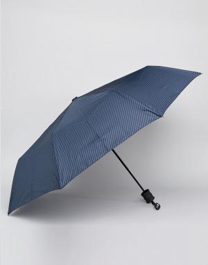 Peter Werth Синий зонт в полоску. Цвет: синий