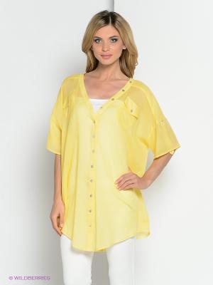 Блузка YUVITA. Цвет: желтый