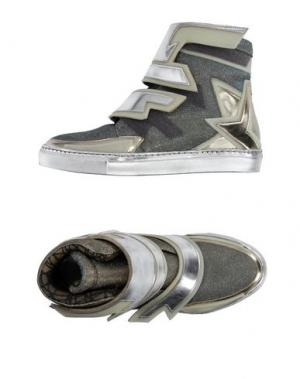 Высокие кеды и кроссовки ALBERTO PREMI. Цвет: платиновый