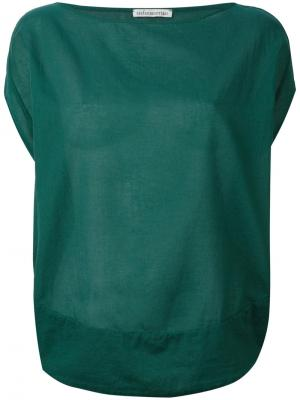 Расклешенная блузка Stefano Mortari. Цвет: зелёный
