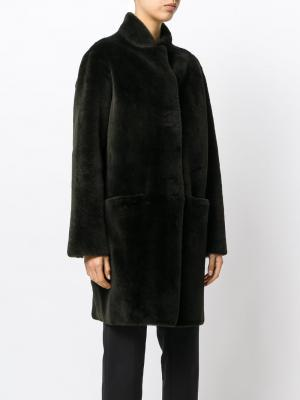 Fur detail coat Inès & Maréchal. Цвет: зелёный
