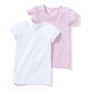 Комплект из двух футболок 3-12 лет La Redoute Collections. Цвет: белый + светло-розовый,белый + ярко-синий,темно-синий  + розовый