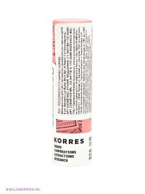 Бальзам-стик для губ Korres. Цвет: белый, розовый