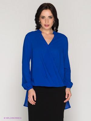 Блузка BOVONA. Цвет: синий