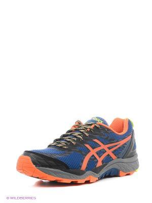 Кроссовки GEL-FujiTrabuco 5 ASICS. Цвет: синий, желтый, оранжевый