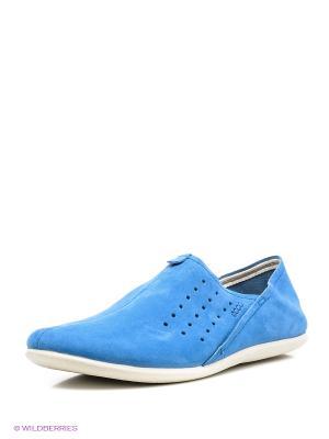 Туфли ECCO. Цвет: голубой