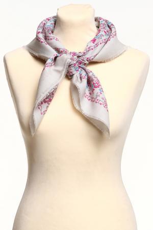 Платок Frantelli. Цвет: серый, розовый, голубой