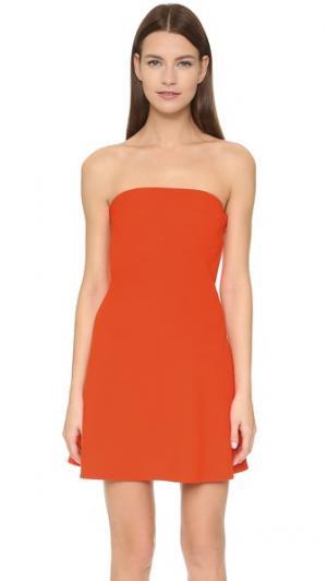 Мини-платье без бретелек Victoria Beckham. Цвет: ярко-оранжевый