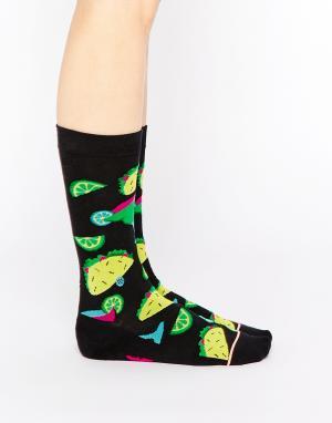 Stance Высокие носки Bite Me. Цвет: черный