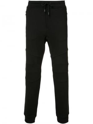 Спортивные брюки на шнурке Belstaff. Цвет: чёрный