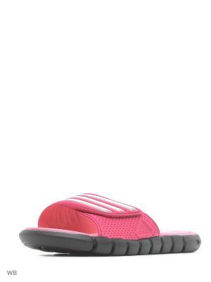 Шлепанцы adiLight SC xJ BLACK1/PEAMET/BAHPNK Adidas. Цвет: розовый