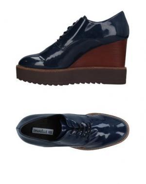Обувь на шнурках EMANUÉLLE VEE. Цвет: темно-синий