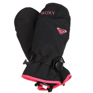 Варежки сноубордические женские  Rxjettysolidmit True Black Roxy. Цвет: черный