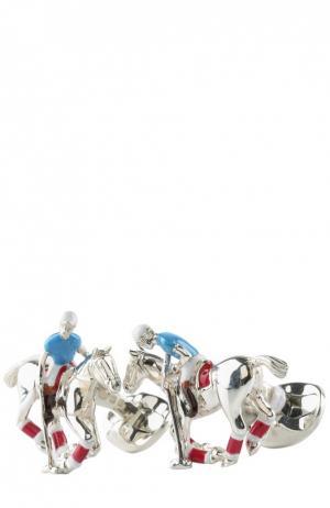 Запонки Deakin&Francis. Цвет: серебряный