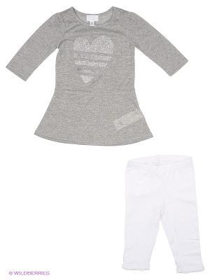 Комплект одежды CHICCO. Цвет: серый, белый