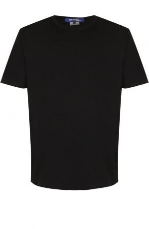 Хлопковая футболка с принтом на спине Junya Watanabe. Цвет: черно-белый