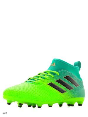 Футбольные Бутсы (Мяг.Покр.) Ace 17.3 Primemesh Sgreen/Cblack/Corgrn Adidas. Цвет: зеленый