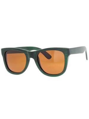 Очки TM0037-B-3-B BAMBOO TEHMODA. Цвет: зеленый