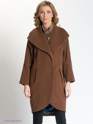 Пальто Анна Чапман. Цвет: коричневый