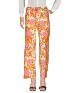 Повседневные брюки OPALINE. Цвет: охра