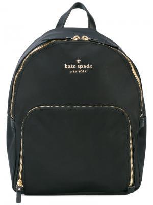 Рюкзак с логотипом на бляшке Kate Spade. Цвет: чёрный