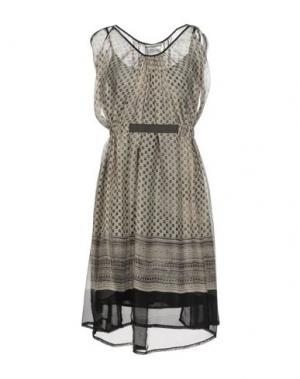Короткое платье REBEL QUEEN. Цвет: светло-серый