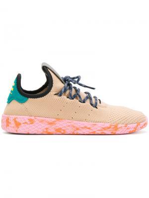 Кроссовки Tennis HU Adidas. Цвет: телесный