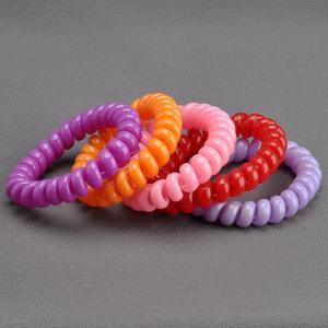 Комплект Резинок-Пружинок для волос 5 шт/уп, арт. РПВ-304 Бусики-Колечки. Цвет: разноцветный