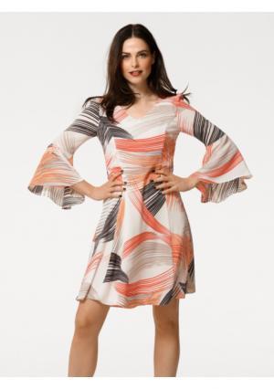 Платье Rick Cardona. Цвет: белый с рисунком
