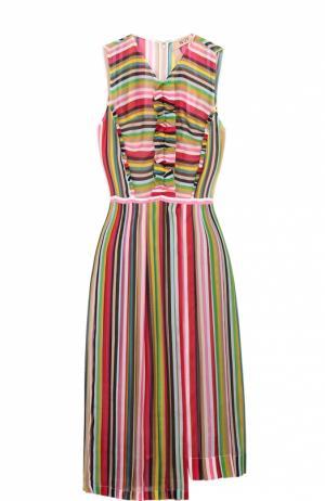 Платье без рукавов в контрастную полоску No. 21. Цвет: разноцветный