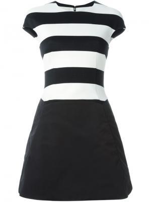 Платье в полоску А-образного силуэта Antonio Berardi. Цвет: чёрный