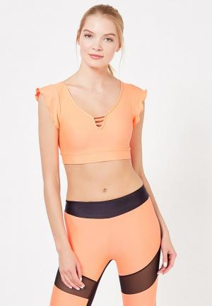 Топ спортивный Dali. Цвет: оранжевый