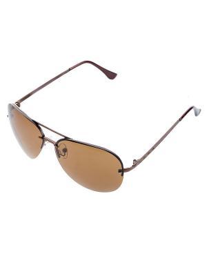 Очки солнцезащитные Bijoux Land. Цвет: темно-коричневый, светло-коричневый, хаки