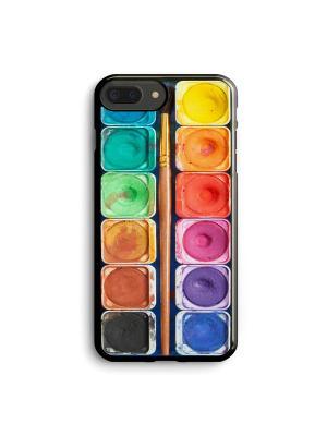 Чехол для iPhone 7 Plus/8 Plus Акварель с кисточкой Boom Case. Цвет: антрацитовый