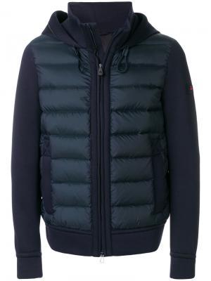 Куртка с капюшоном и дутой вставкой Peuterey. Цвет: синий