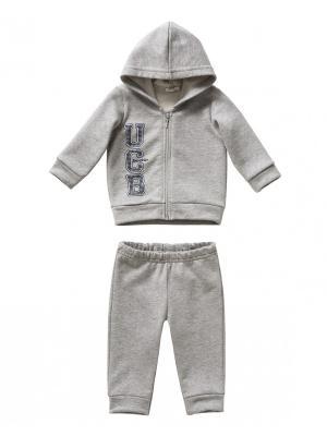 Комплект одежды United Colors of Benetton. Цвет: серый меланж
