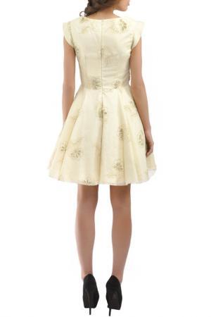 Коктейльное платье Faust. Цвет: бежевый