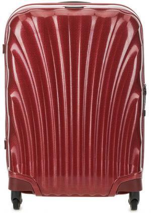 Маленький бордовый чемодан на колесах Samsonite. Цвет: бордовый