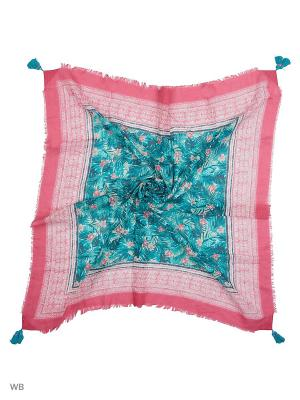 Платок United Colors of Benetton. Цвет: розовый, зеленый