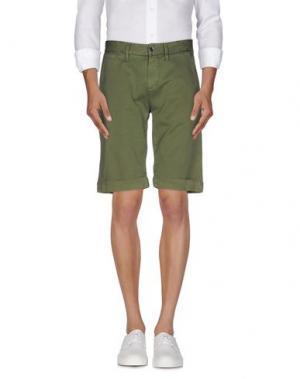 Бермуды SEVEN7. Цвет: зеленый-милитари