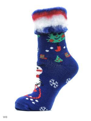 Новогодние носки HOSIERY. Цвет: синий