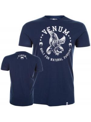Футболка Venum Natural Fighter Eagle - Blue. Цвет: синий