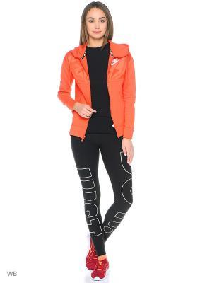 Толстовка W NSW AV15 HOODIE FZ Nike. Цвет: оранжевый