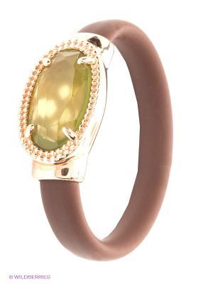 Кольцо NAVELL. Цвет: коричневый, оливковый